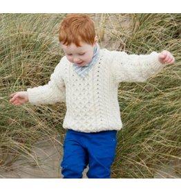Aran Woollen Mills Children's Crew Aran Sweater