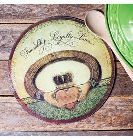 Abbey Press Claddagh Round Cutting Board