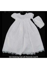 Bridgets of Erin Christening Gown w/Shamrocks