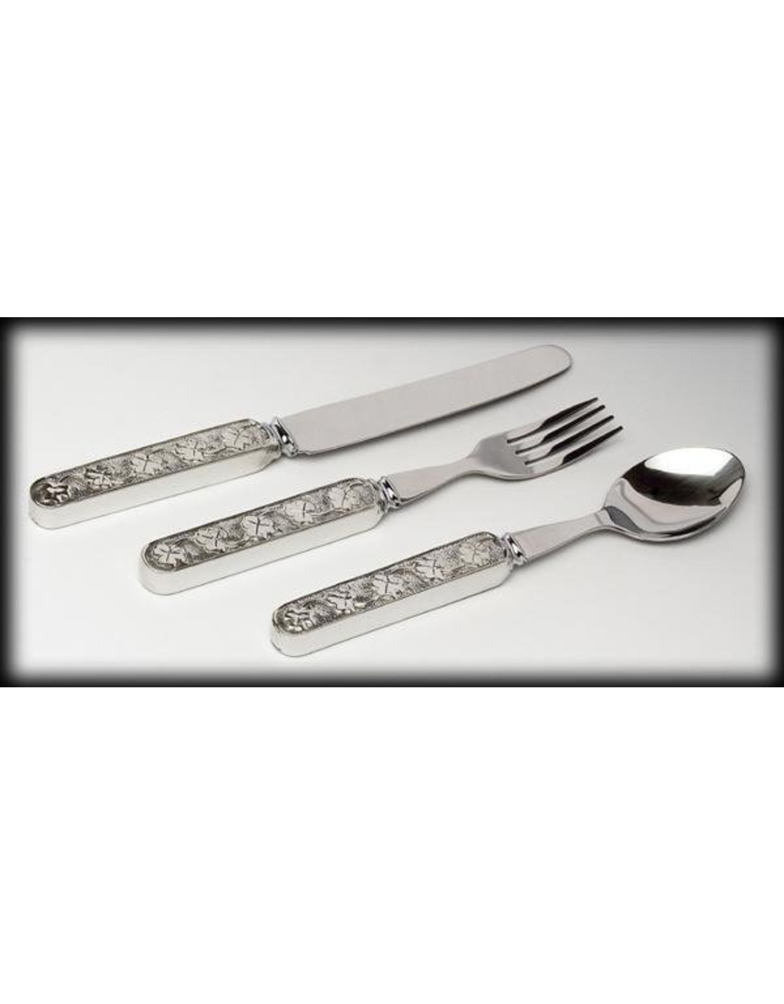 Mullingar Pewter Shamrock Baby Cutlery Set by Mullingar Pewter