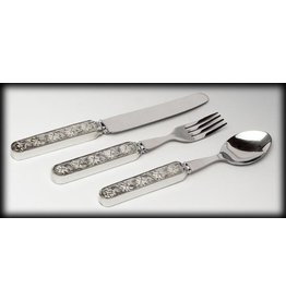 Mullingar Pewter Shamrock Baby Cutlery Set