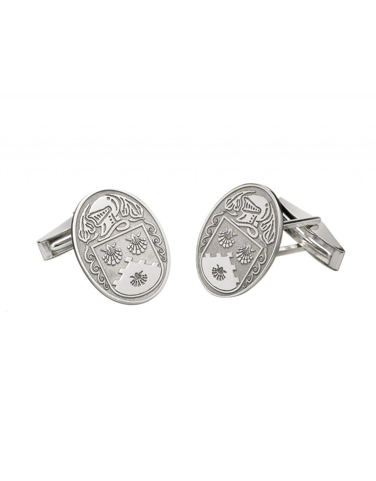 Boru Jewelry Large Oval Shaped Coat of Arms Cufflinks