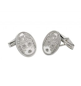 Boru Jewelry Large Oval Shaped Coat of Arms Cufflinks