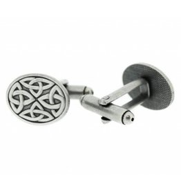 Hamilton & Young Celtic Oval Pewter Cufflinks