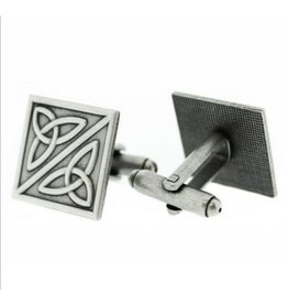 Hamilton & Young Trinity Knot Pewter Cufflinks