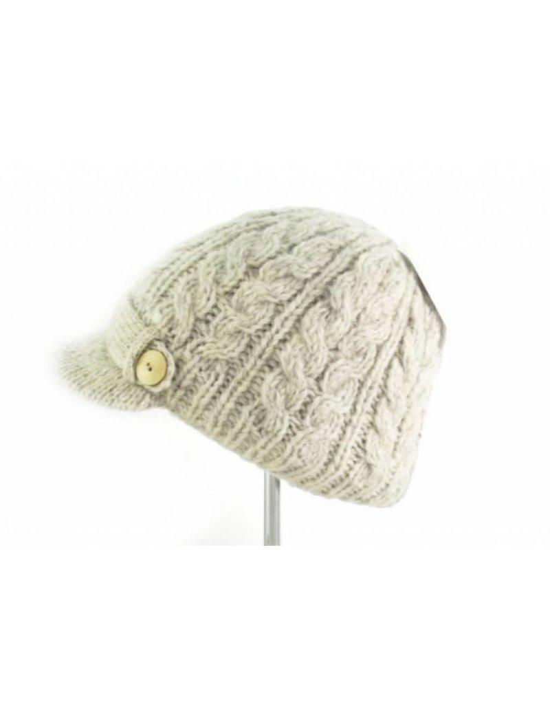 60b63661b Erin Cable Aran Peak Hat