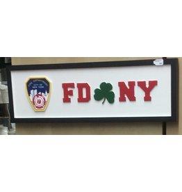 Memories of Ireland Rectangular Road Sign:  FDNY