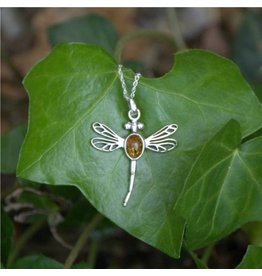 Hamilton & Young Outlander-Inspired Dragonfly Pendant with Amber