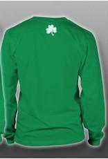 Coastal Tees Irish + Tri-color Shamrock Youth Long-sleeve