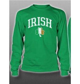 Coastal Tees Irish + Tri-color Shamrock Youth Long-sleeve