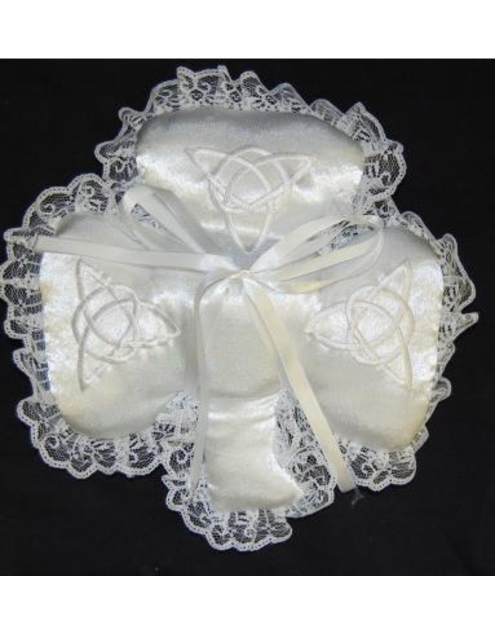 Bridgets of Erin Shamrock and Trinity Satin Ring Bearer Pillow