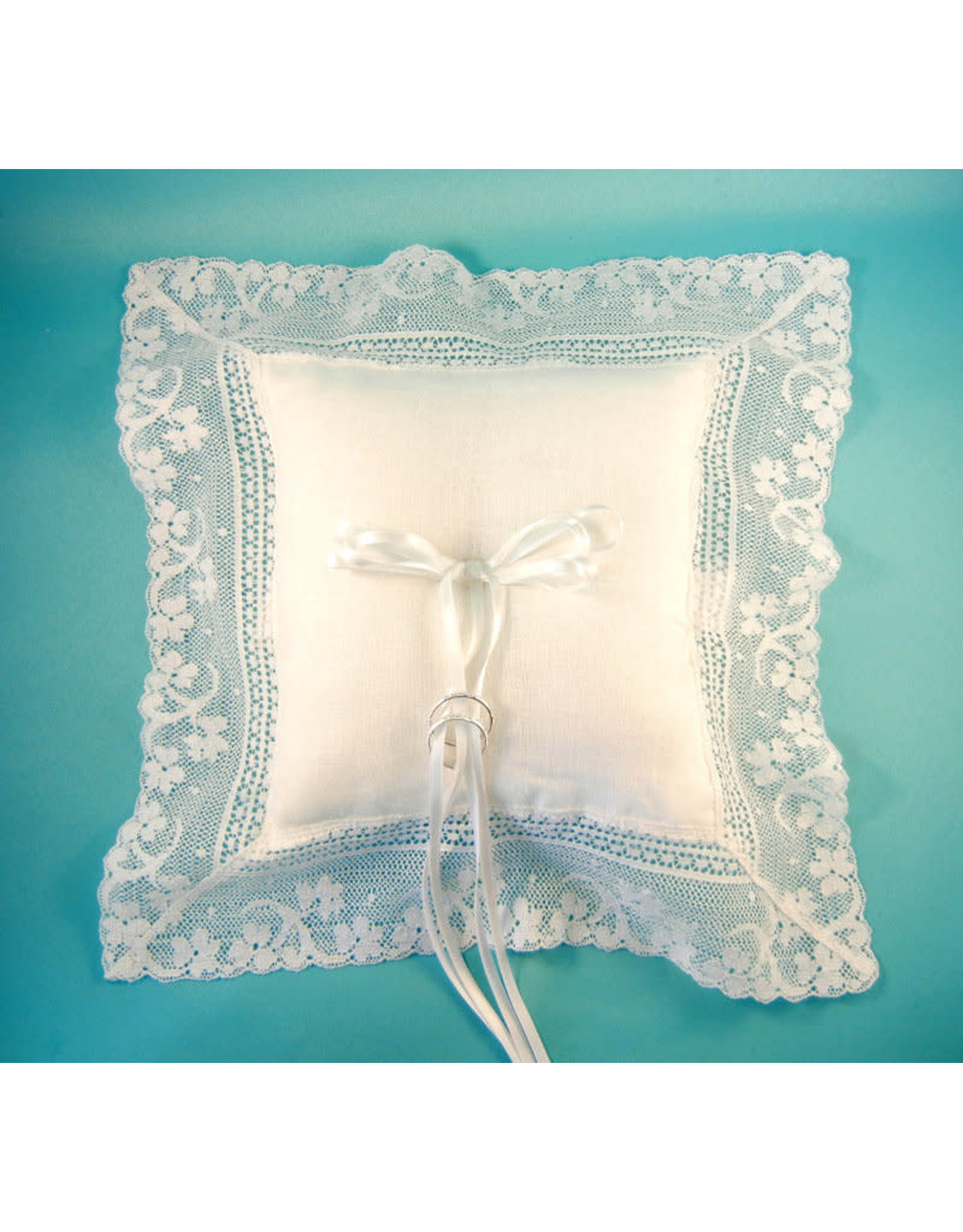 Simply Charming Irish Linen and Lace Ringbearer Pillow