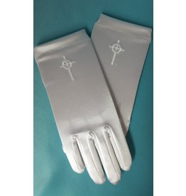 Simply Charming Girls Satin Gloves