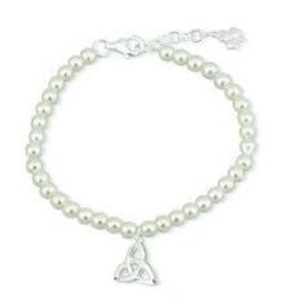 Solvar Little Tara Child's Pearl Bracelet with Trinity