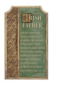 Abbey Press Irish Father Plaque w/Easel/Hanging