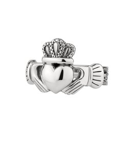 Solvar Mens Large Celtic Claddagh Ring