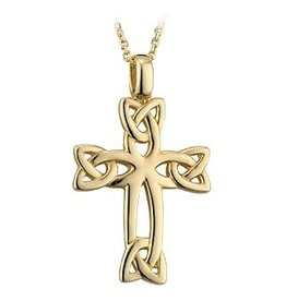 Solvar 14k Gold Celtic Cross
