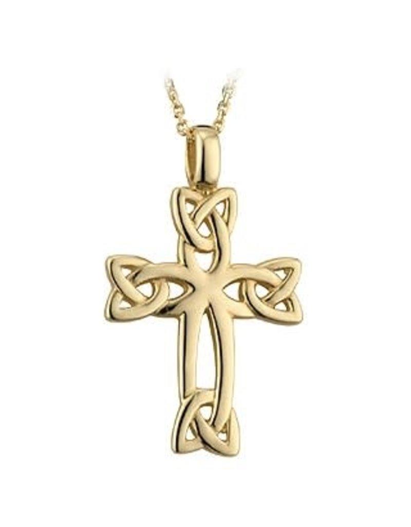 Solvar 14k Gold Celtic Cross
