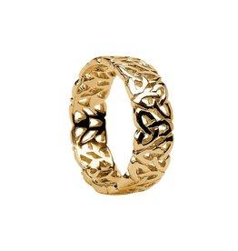 Boru Jewelry 10k Gold Gents Fillagree Trinity Band