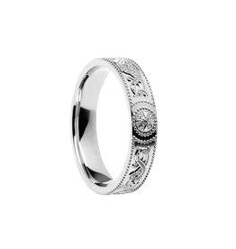 Boru Jewelry Silver Celtic Warrior Band - Narrow