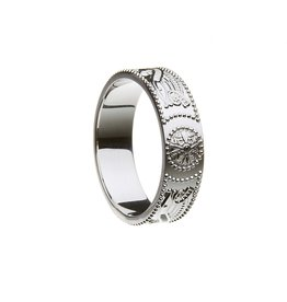 Boru Jewelry Celtic Warrior Silver Band