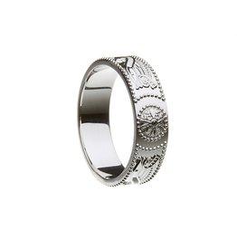 Boru Jewelry Celtic Warrior Silver Band