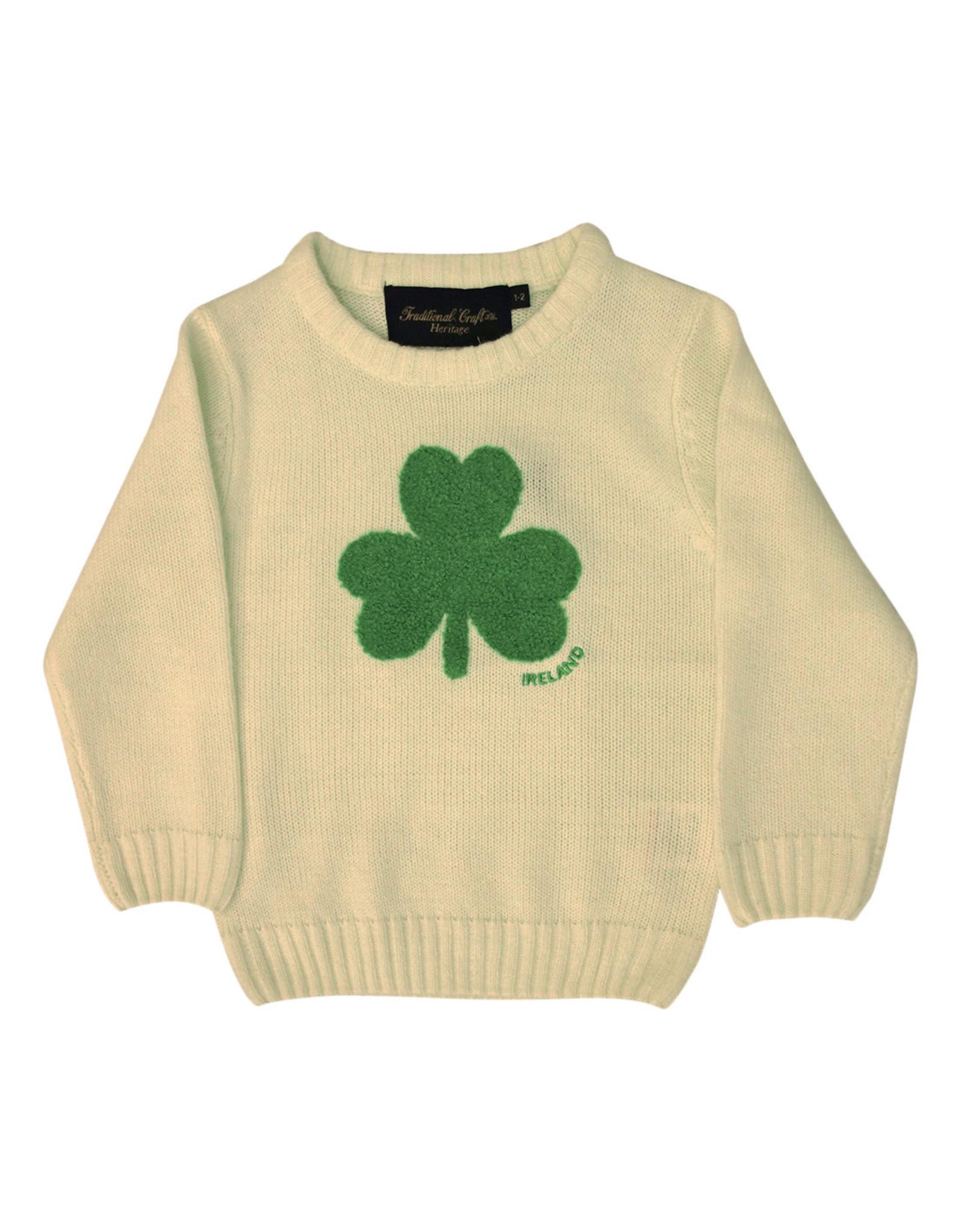 Traditional Craftwear Cream + Green Shamrock Sweater