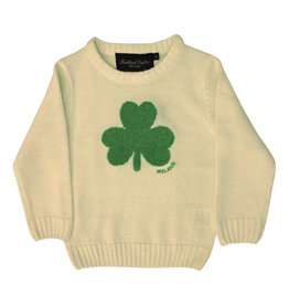 Traditional Craftwear Cream + Green Shamrock Sweater