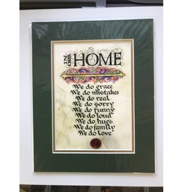 Celtic Card Company In Our Home: 8x10 Green Matted Print