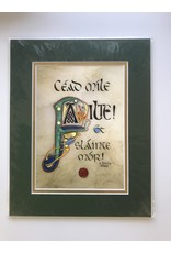 Celtic Card Company Cead Mile Failte: 8x10 Green Matte