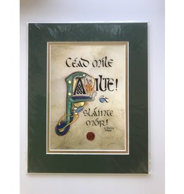 Celtic Card Company Cead Mile Failte: 8x10 Green Matte