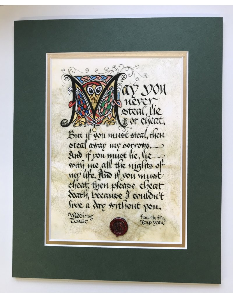 Celtic Card Company Wedding Toast: 8x10 Green Matted Print