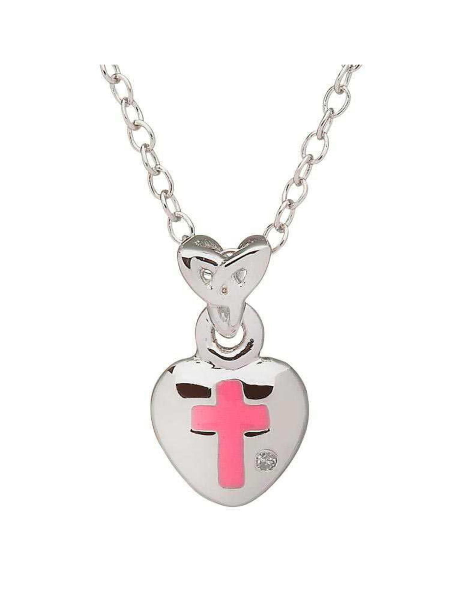 Shanore Pink Cross Heart w/ Diamond