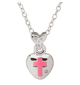 Shanore Pink Cross Heart w/ Diamond