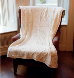 Aran Woollen Mills Aran Patchwork Throw Blanket