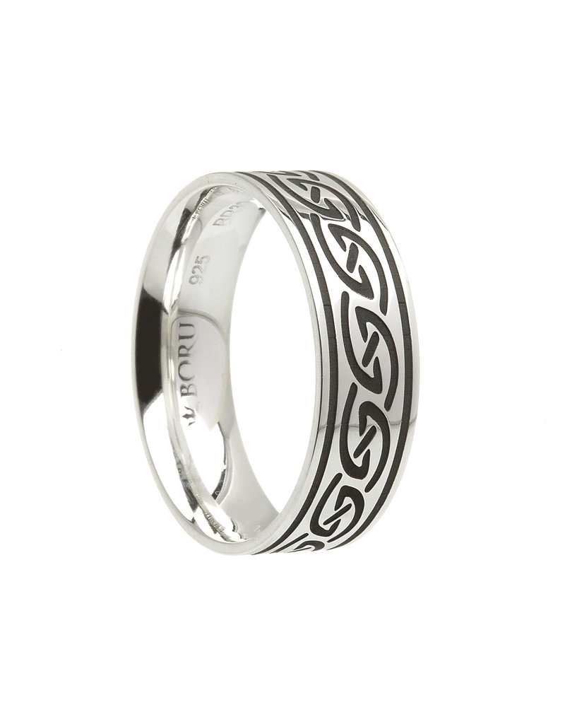 Boru Jewelry Celtic Waves Wide Comfort Fit Band