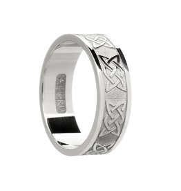 Boru Jewelry Mens Silver Lovers Knot Band