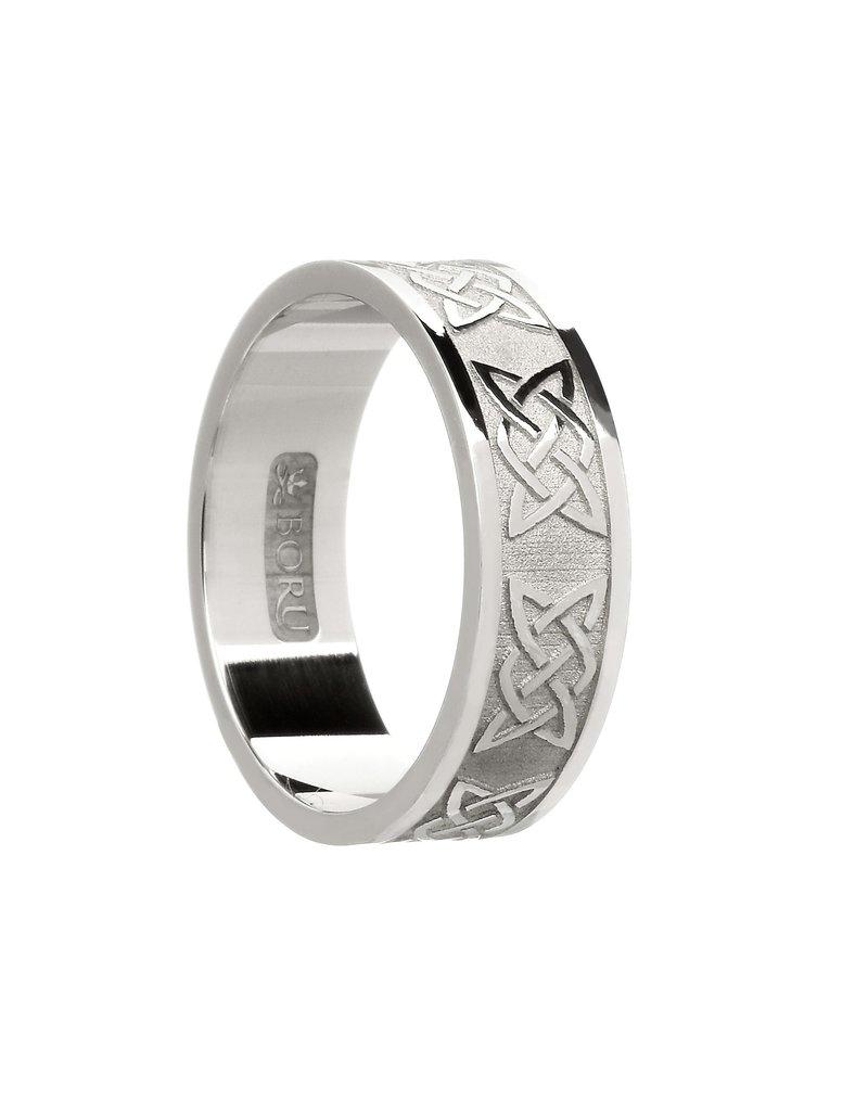 Boru Jewelry Mens Silver Lovers Knot Band