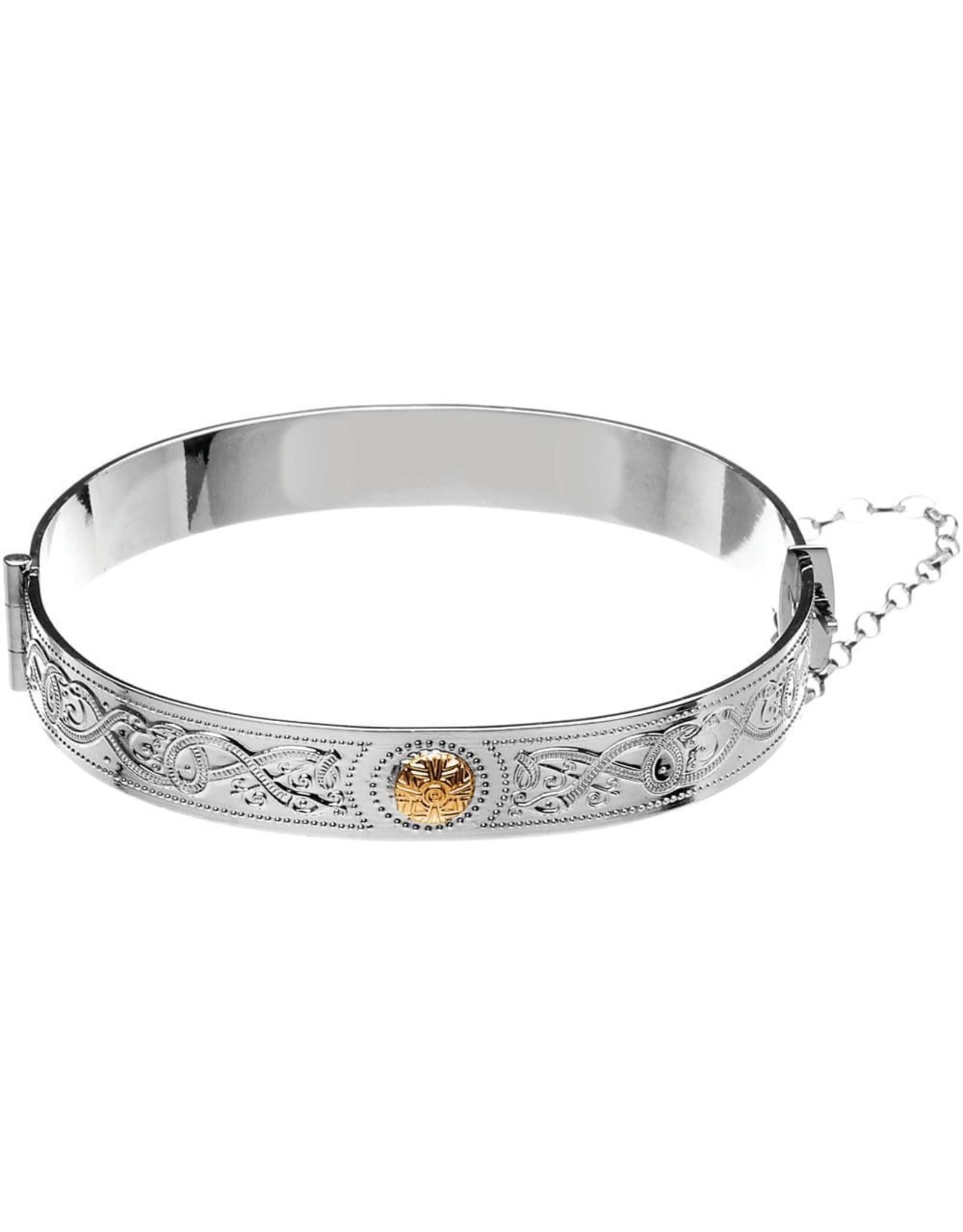 Boru Jewelry Celtic Warrior Original Bangle with 18k Gold Bead