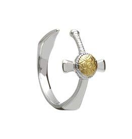 Boru Jewelry Silver + 18k Nuada Sword Ring
