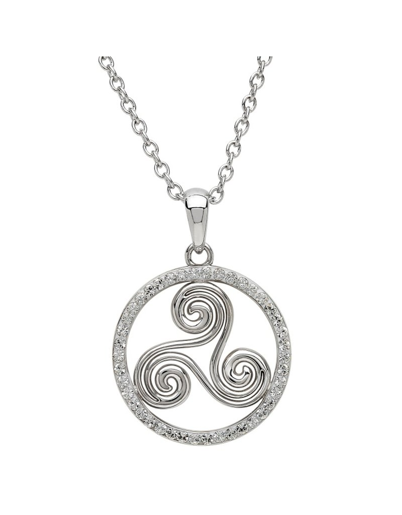 Shanore Silver Celtic Swirl Necklace