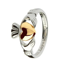 Shanore S/S with 10K Heart Claddagh Ring