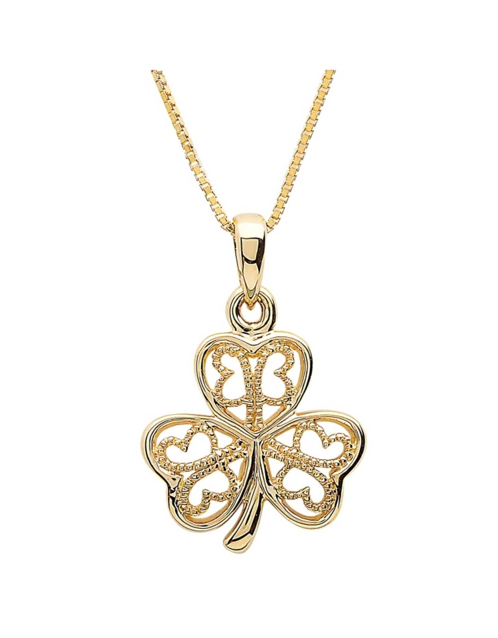 Shanore 10k Gold Shamrock Necklace