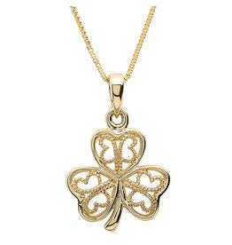 Shanore 10k Gold Shamrock Necklace