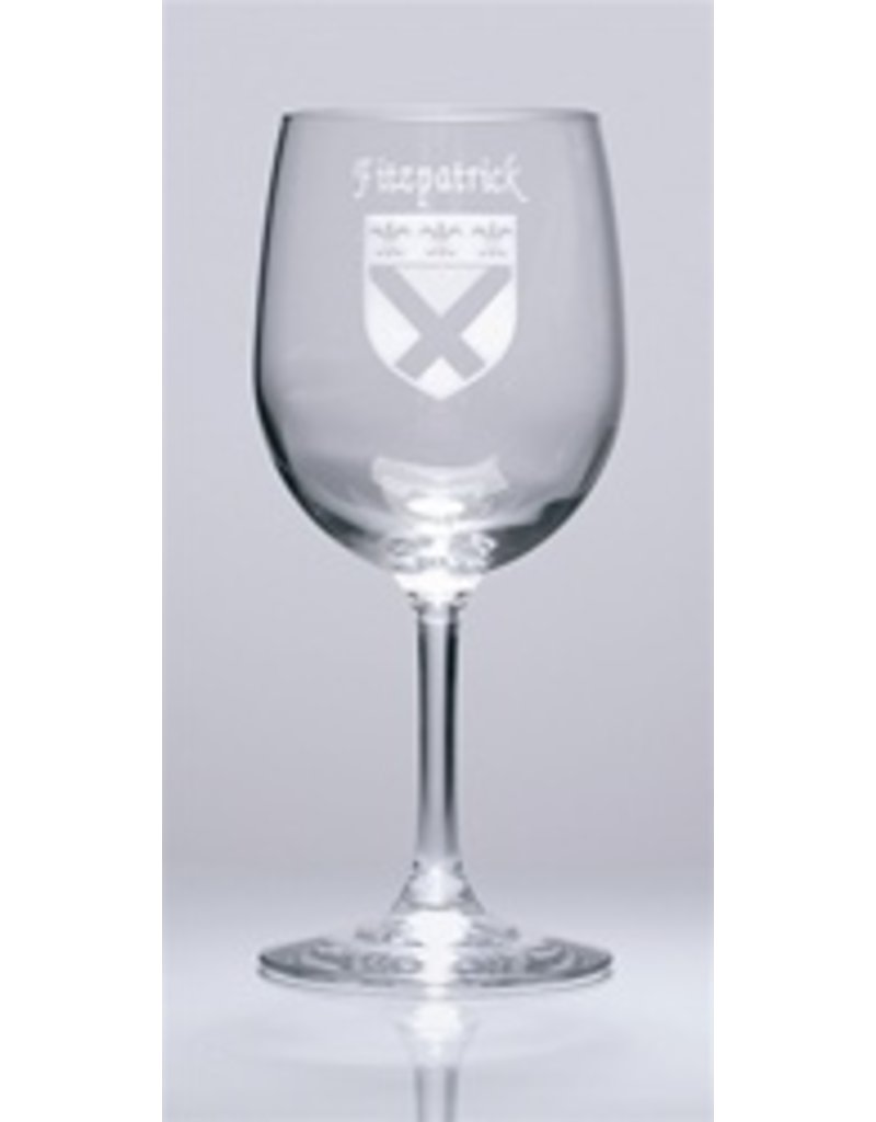 Sexton Company Custom Coat of Arms Wine Glass Set of 4
