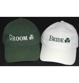 Bridgets of Erin Groom Cap with Shamrock