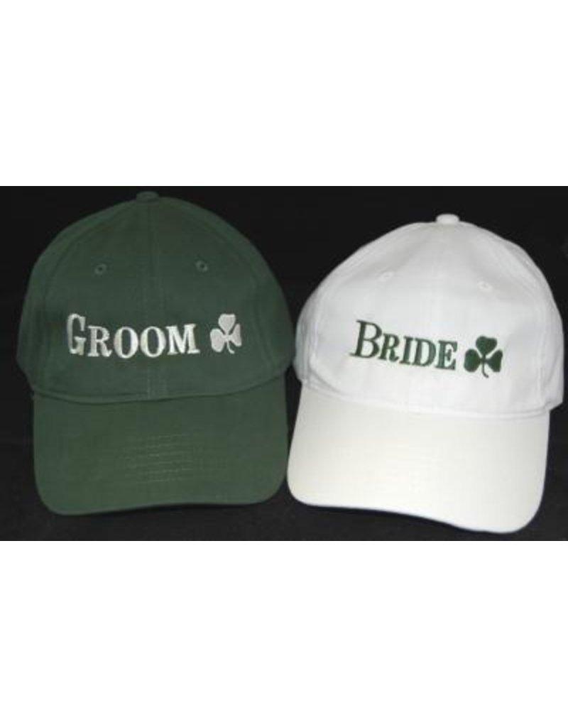 Bridgets of Erin Groom Green Baseball Cap with Shamrock