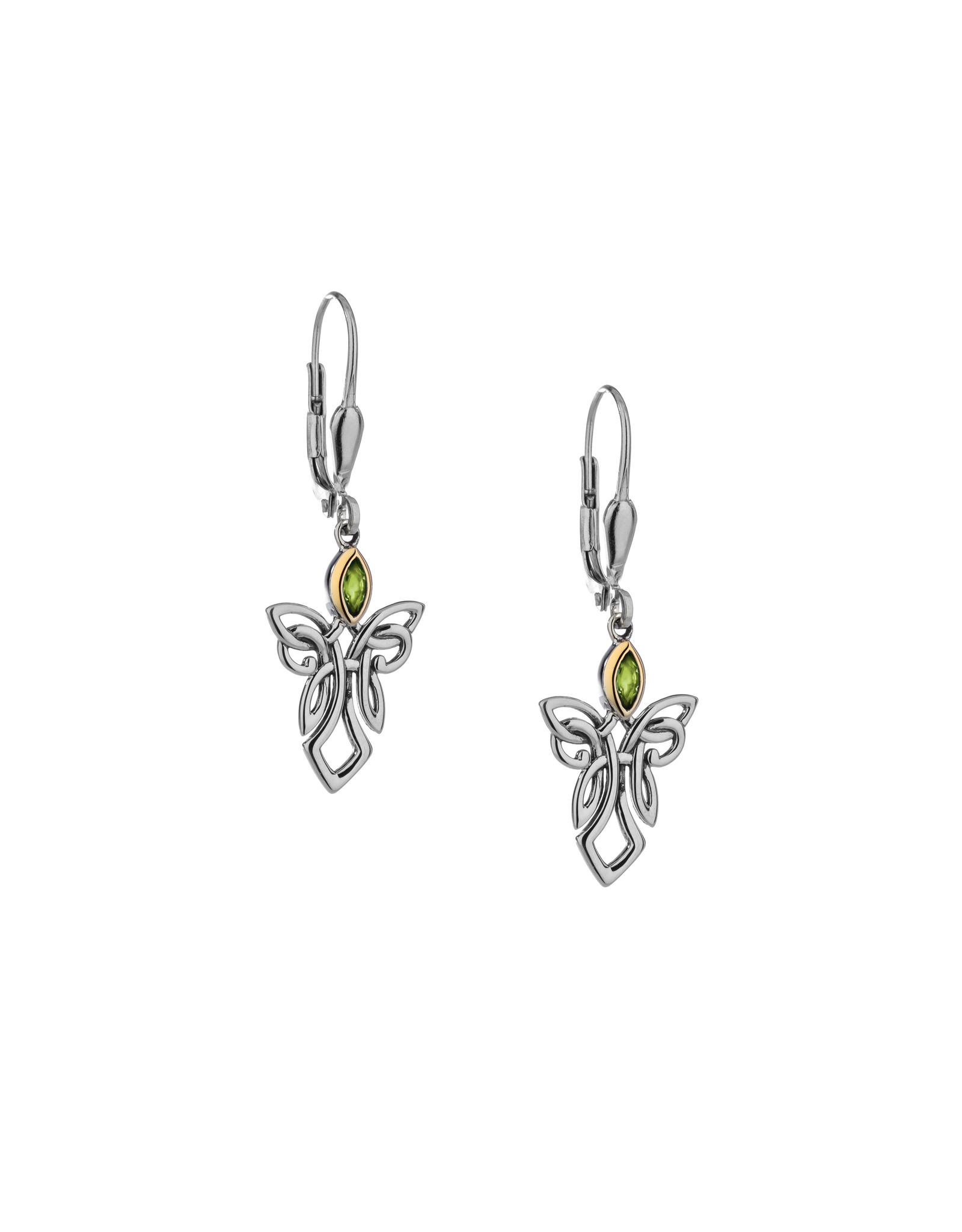 Keith Jack Silver + 10k Guardian Angel Earrings by Keith Jack