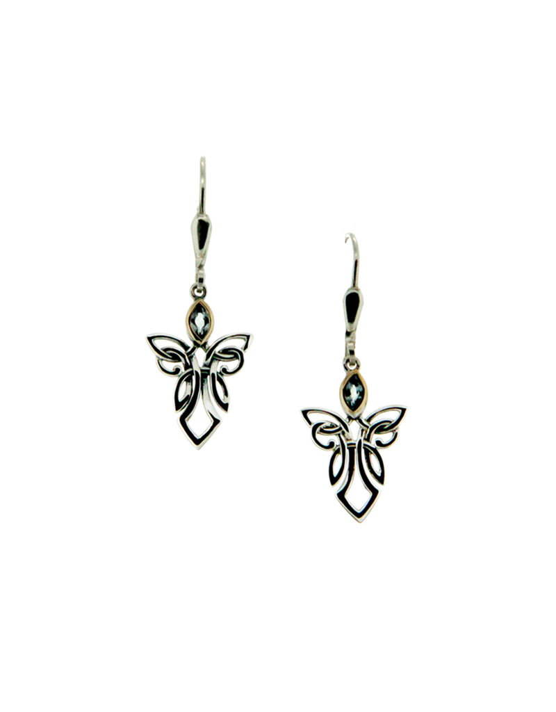 Keith Jack Silver + 10k Guardian Angel Earrings by Keith Jack
