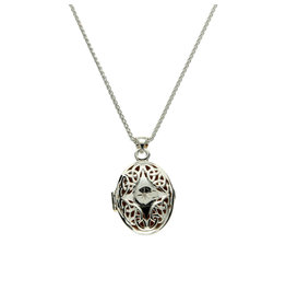 Keith Jack Silver Trinity Diamond Set Locket